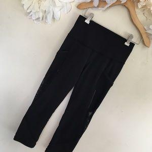 Lululemon | Black Mesh Capri Pants | Size 4